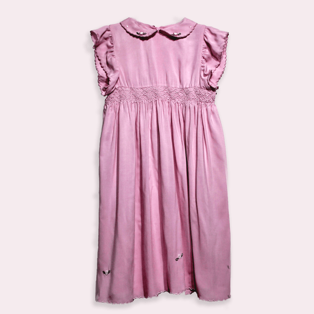 children's clothes - children's dress - summer dress - baby girl dress - baby girl clothes - pink dress - pink summer dress