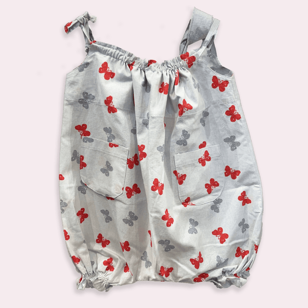 children's clothes - baby clothes - baby jumpsuit - children's jumpsuit - gray jumpsuit - butterfly pattern