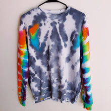Load image into Gallery viewer, The Summer Sweatshirt - Rainbow Sleeve Crew - Live & Let Dye