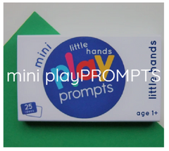 mini play prompts activity cards children kids preschool learning educational home parents