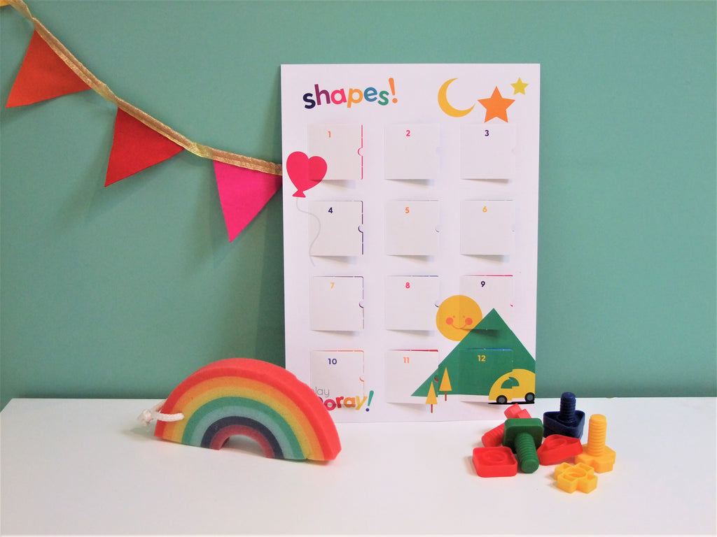 playCALENDAR: Shapes - playHOORAY!