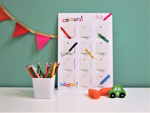 playCALENDAR : Colours (A3) - playHOORAY!