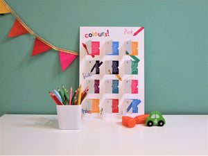 playCALENDAR : Colours - playHOORAY!