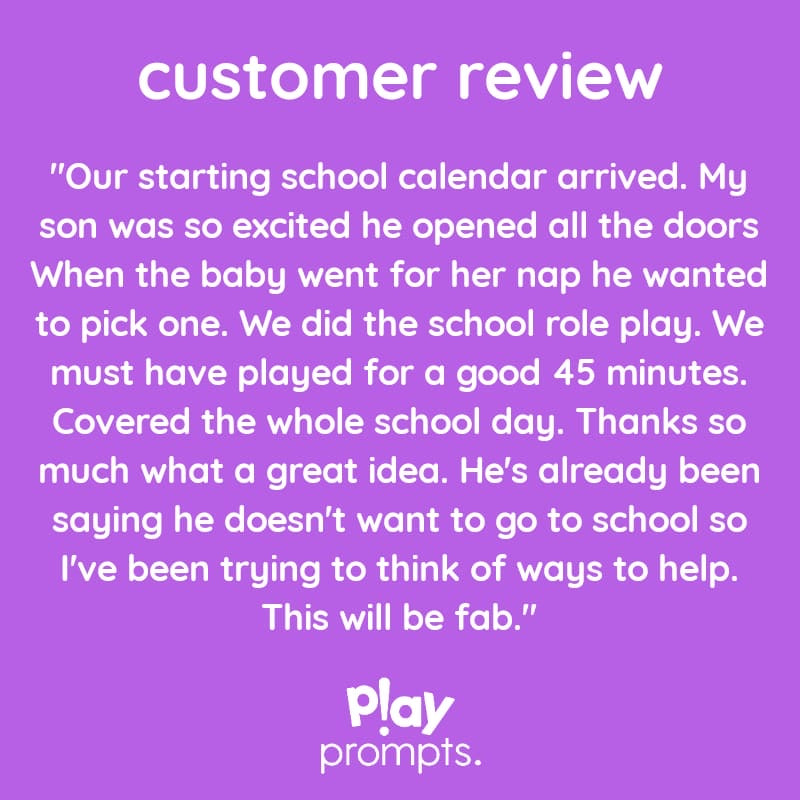 playCALENDAR : Starting School (A3) - playHOORAY!