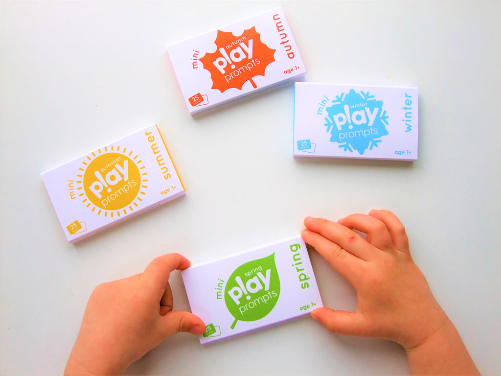 seasonal play prompts activity cards mini pack for preschool children spring summer autumn winter seasons