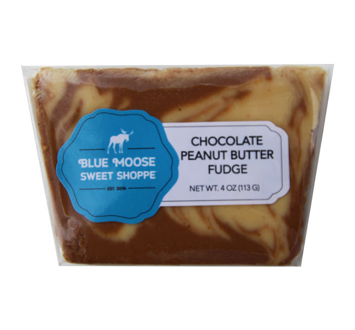 Blue Moose - Belgian Chocolate Peanut Butter Fudge - Ganje's