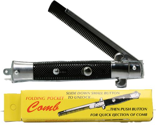 Folding Pocket Comb Switchblade - Ganje's