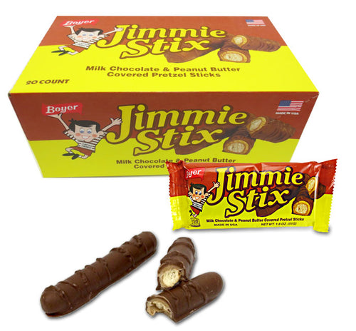 Boyer Jimmie Stix - Milk Chocolate, Peanut Butter & Pretzel - Ganje's