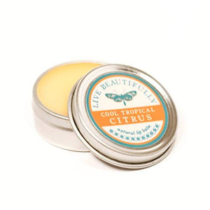 Live Beautifully - Signature Lip Balm Tin - Cool Tropical Citrus - Ganje's
