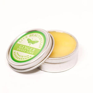 Live Beautifully - Signature Lip Balm Tin - Ginger Sweet Lime - Ganje's