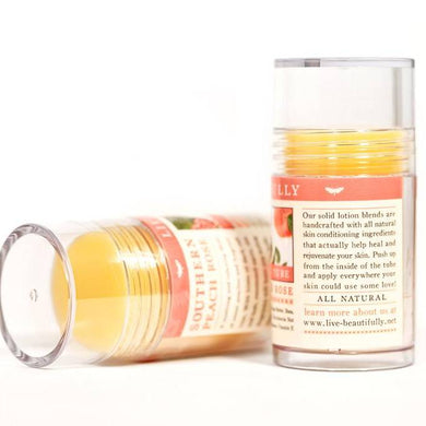 Live Beautifully - Lotion Bar Tube - Southern Peach Rose - Ganje's