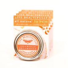 Live Beautifully - Signature Lip Balm Tin - Creamsicle Dreamsicle - Ganje's