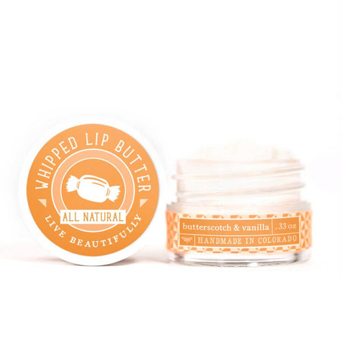 Live Beautifully - Whipped Lip Butter - Butterscotch & Vanilla - Ganje's