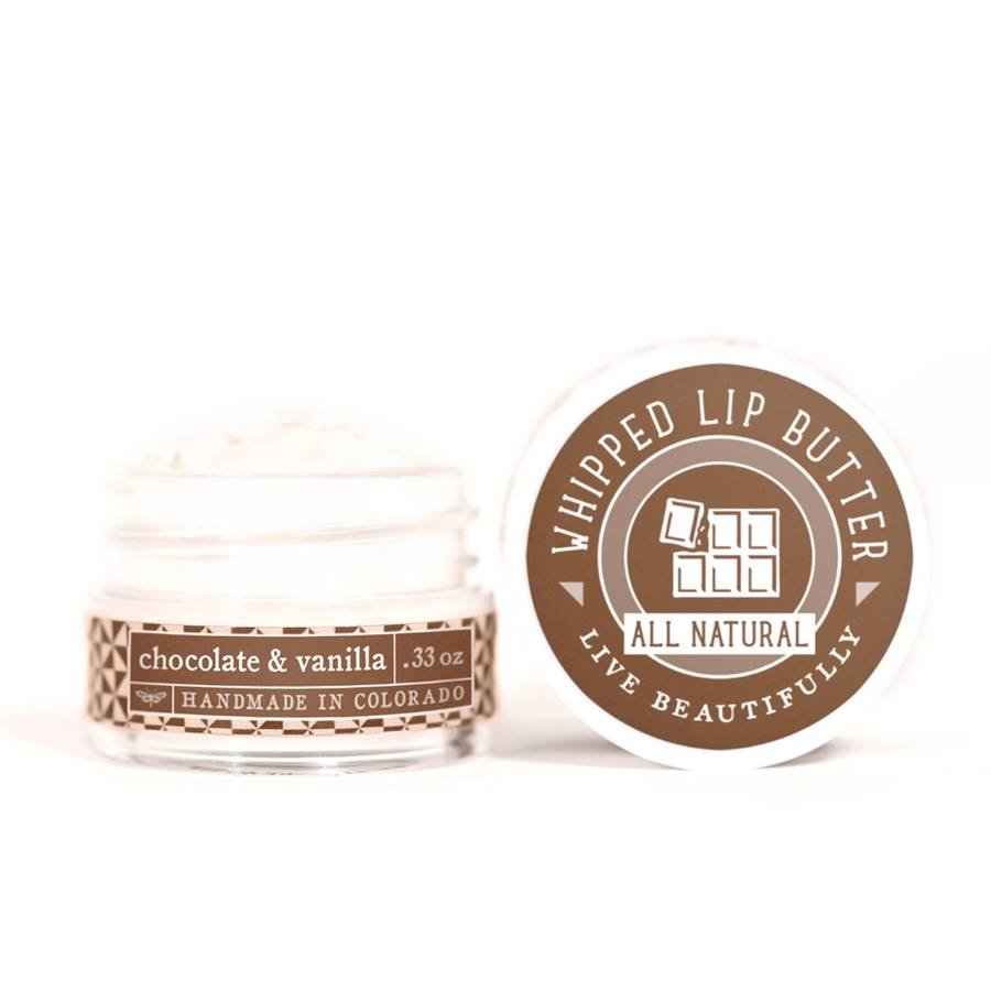 Live Beautifully - Whipped Lip Butter - Chocolate & Vanilla - Ganje's