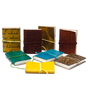 Mini Leather Notebook - Assorted - Ganje's