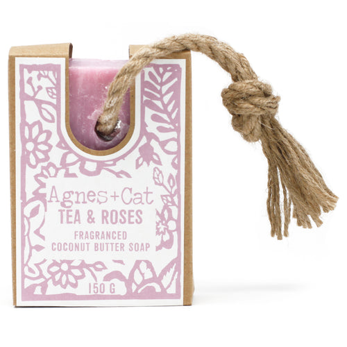 UK - Agnes+Cat - Soap on a Rope - Tea Roses - Ganje's