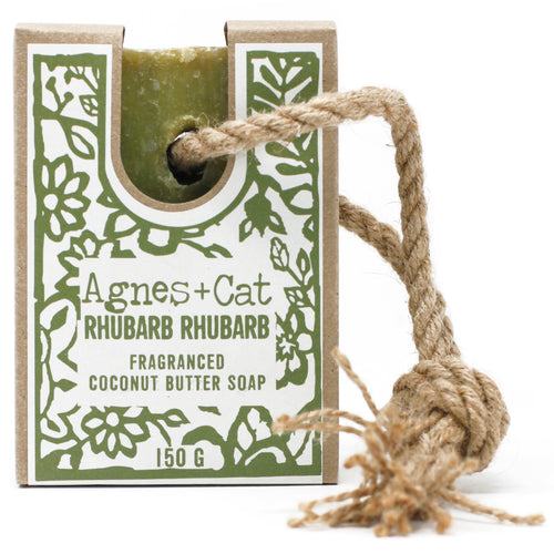 UK - Agnes+Cat - Soap on a Rope - Rhubarb Rhubarb - Ganje's