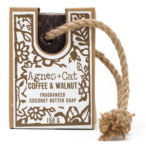 UK - Agnes+Cat - Soap on a Rope - Coffee and Walnut - Ganje's