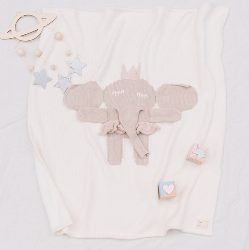 Curious Little Fingers - Elephant Baby Blanket - Ganje's