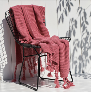 Woven Tassel Blanket - Watermelon Punch - Ganje's