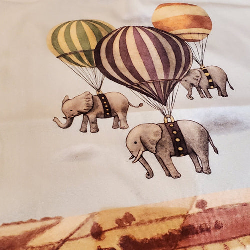 Vintage Throw Pillow - Up, Up and Away - Ganje's