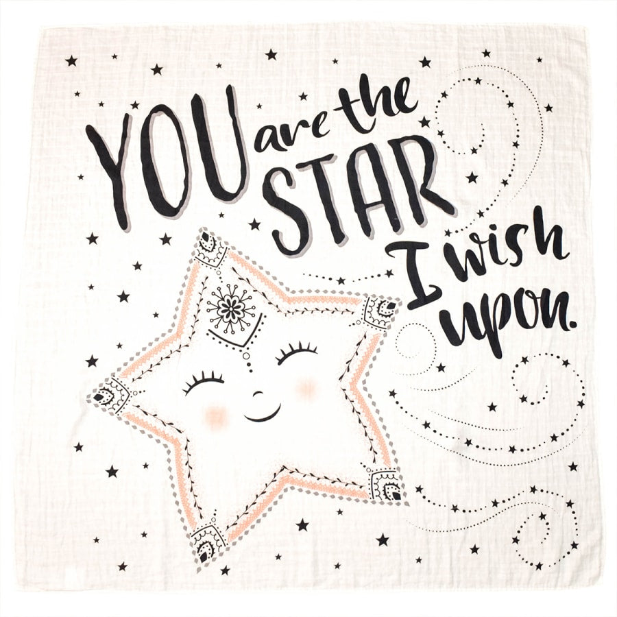 Organic Swaddle - You Are The Star I Wish Upon - Ganje's