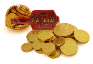 Fort Knox - Large Bag Milk Chocolate Gold Coins - Ganje's