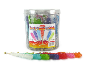 Rock Candy On A Stick- Assorted Colors - Ganje's