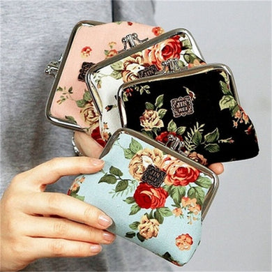2 Compartment - Vintage Rose - Coin Purse - Ganje's
