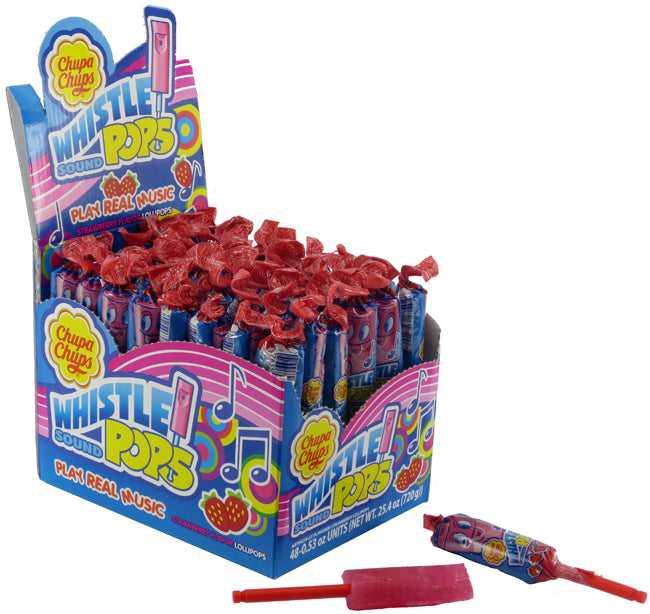 Chupa Chups Whistle Pop - Strawberry - Ganje's