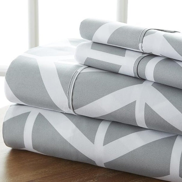 Classic Collection Sheet Set - Arrow - Charcoal - Ganje's