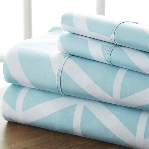 Classic Collection Sheet Set - Arrow - Heirloom Blue - Ganje's