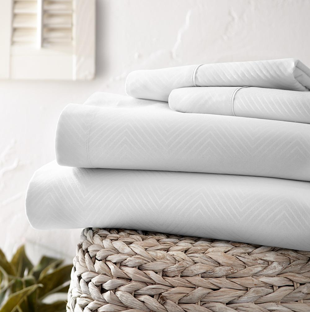 Classic Collection Sheet Set - Embossed Chevron - Marshmallow - Ganje's