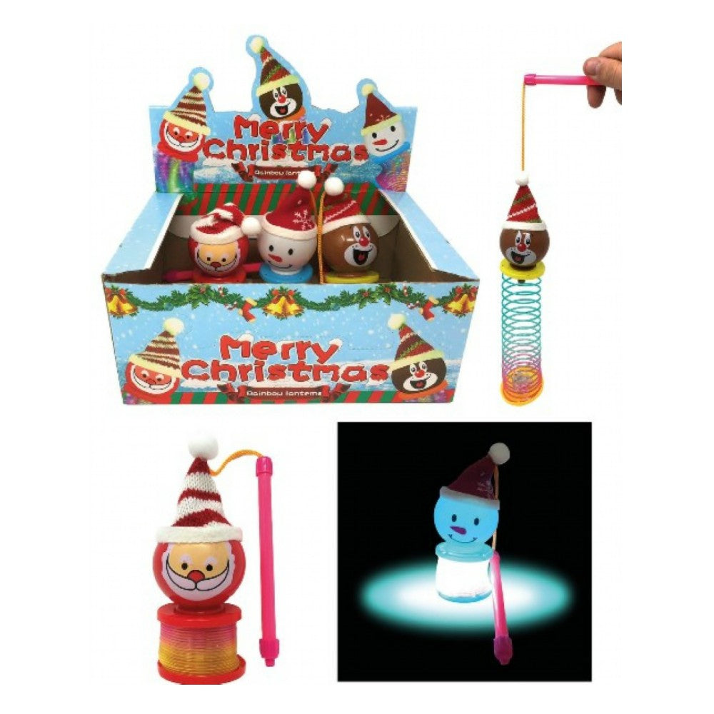 Christmas Light Up Lantern Spring Toy - Ganje's