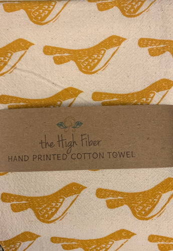 The High Fiber - Yellow Birds - Kitchen Towel - Ganje's