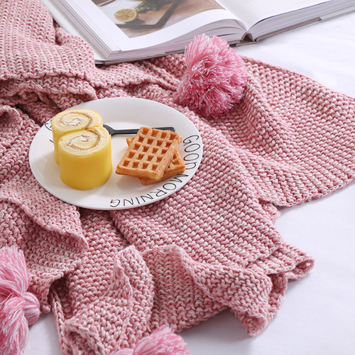 Pompon Blanket - Misty Rose - Ganje's