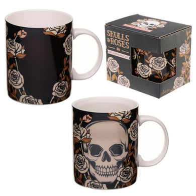 Skulls and Roses Colour Changing Mug - Ganje's