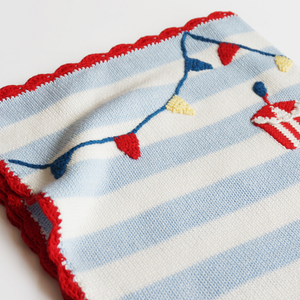 Knitted Baby Blanket - Bunting - Ganje's