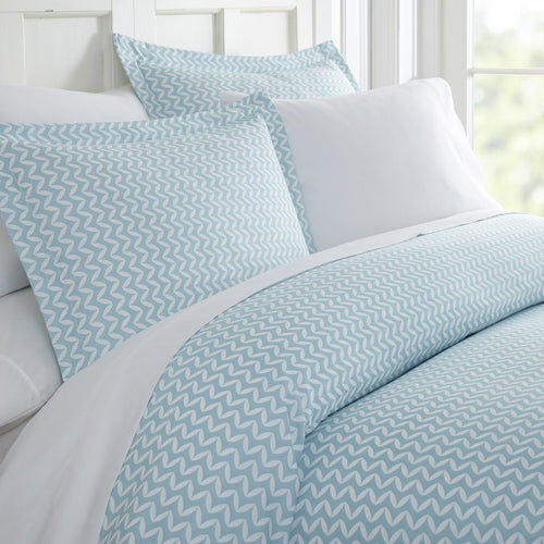 Classic Collection Duvet Set - Wavy Chevron - Robin's Egg Blue - Ganje's