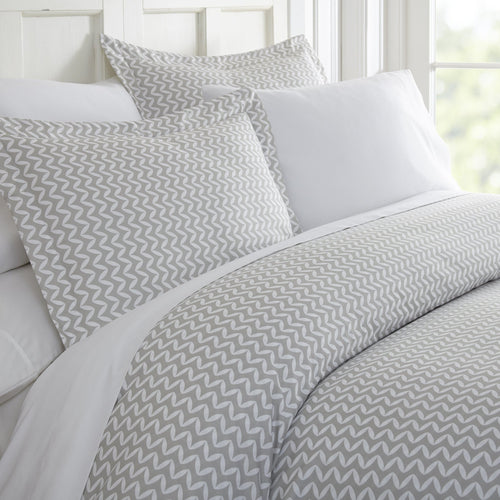 Classic Collection Duvet Set - Wavy Chevron - Classic Gray - Ganje's