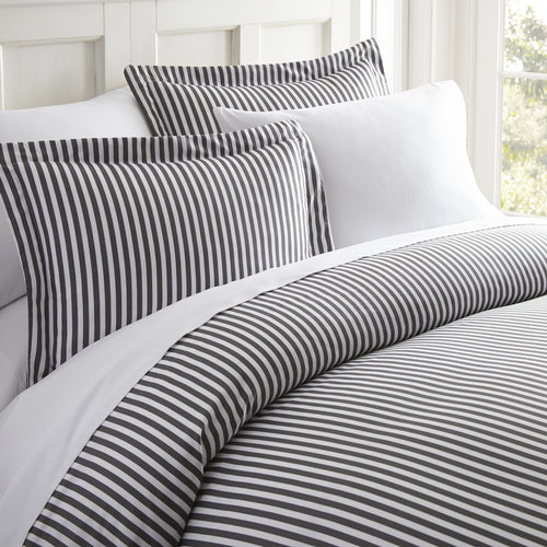 Classic Collection Duvet Set - Ribbon Striped - Vintage Gray - Ganje's