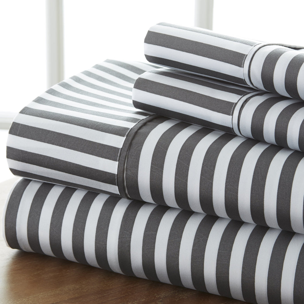 Classic Collection Sheet Set - Ribbon Striped - Vintage Gray - Ganje's