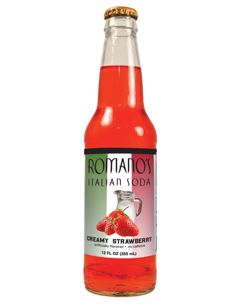 Romano's Italian Soda - Creamy Strawberry - Ganje's
