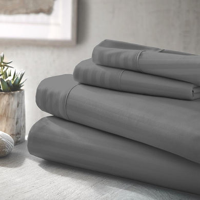 Classic Sheet Set - Embossed Stripe - Slate - Ganje's