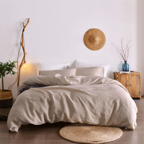 French Linen Sheet Set - Oatmeal - Ganje's