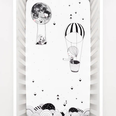 Rookie Human Crib Sheet - Organic Cotton - Frieda & The Balloon - Ganje's