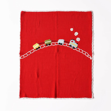 Knitted Baby Blanket - Locomotive - Ganje's