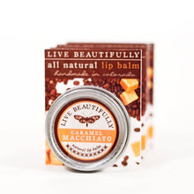 Live Beautifully - Signature Lip Balm Tin - Caramel Macchiato - Ganje's