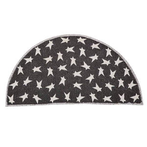 Black Primitive Star Rug - Several Sizes - Ganje's