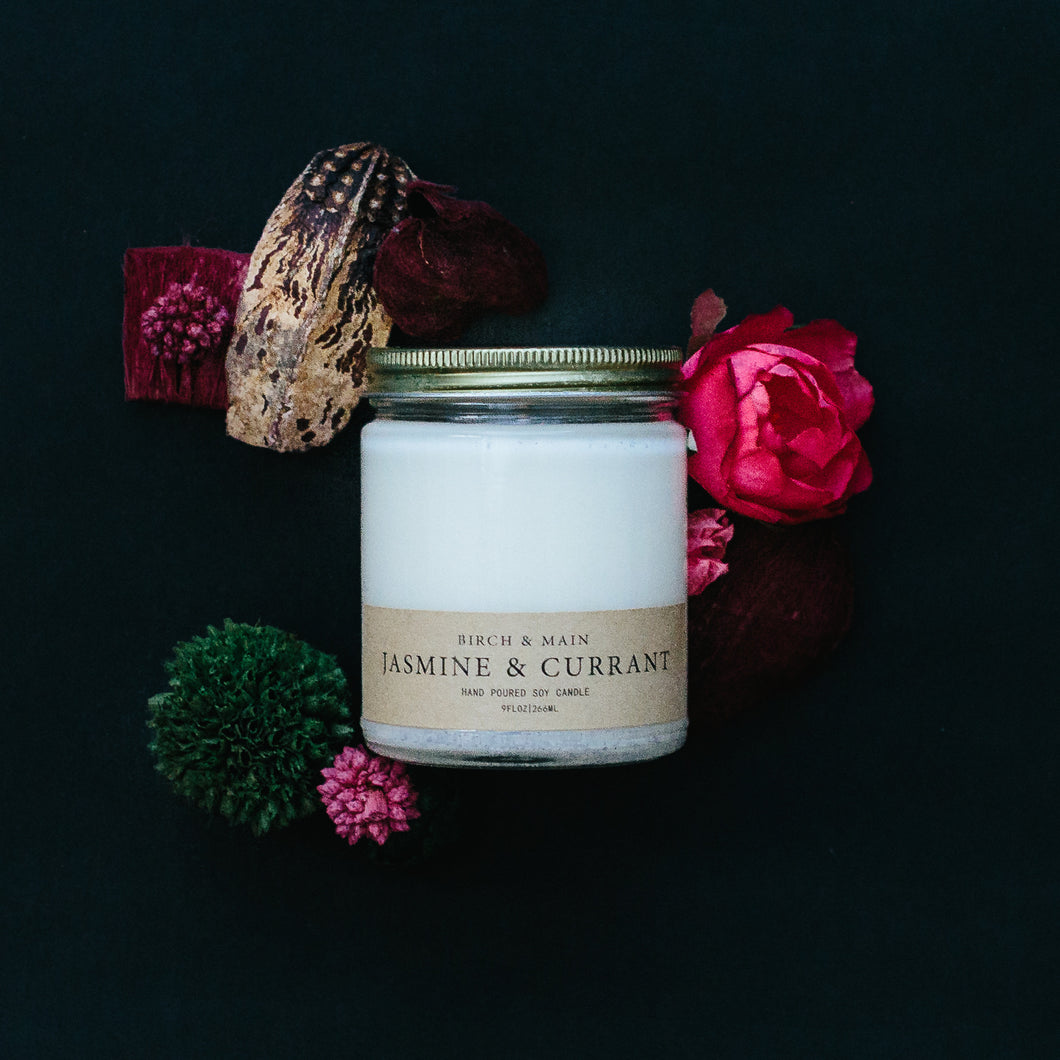 Birch & Main - Soy Candle - Jasmine & Currant - Ganje's